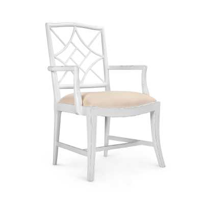 EVELYN ARMCHAIR, WHITE - Bungalow 5