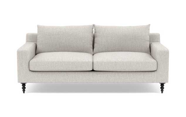 SLOAN Fabric Sofa in Wheat with Matte Black Tapered Turned Legs - Interior Define