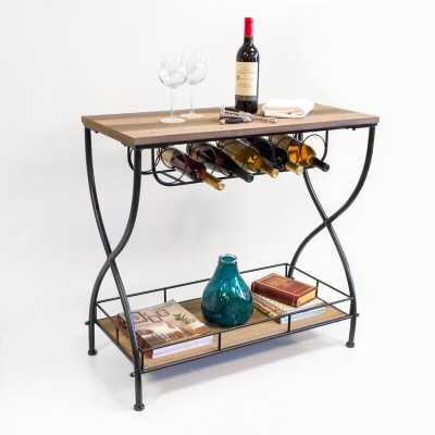 Savarese Rustic Industrial Bar Cart - Wayfair