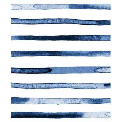Watercolor Stripes Peel-and-Stick Wallpaper Panel - Wayfair