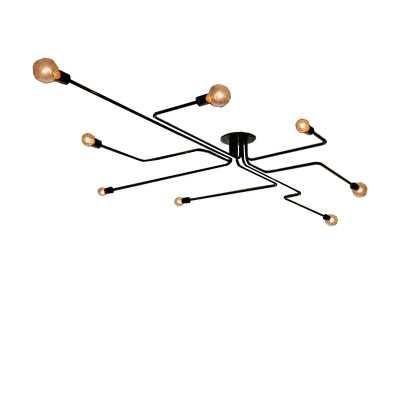 """Gillon 8 - Light 26"""" Sputnik Modern Linear Semi Flush Mount - AllModern"""