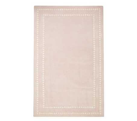 Pearl Dot Border Rug, Pale Pink, 8x10 - Pottery Barn Kids