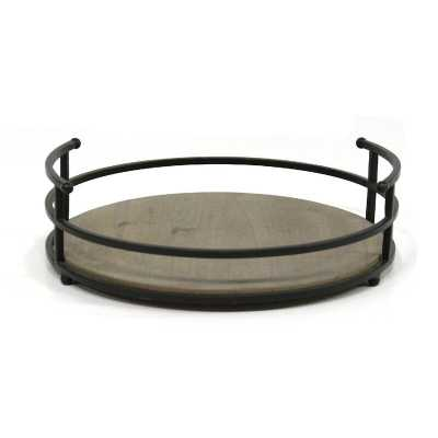Herold Metal and Wood Coffee Table Tray - Wayfair