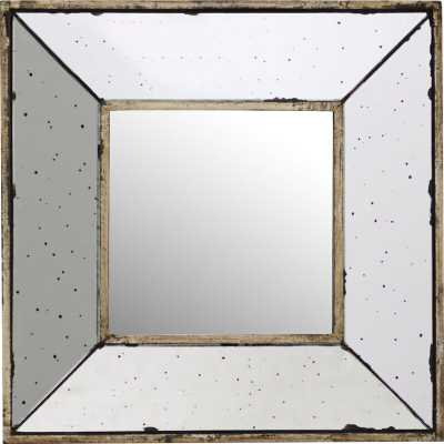 Traditional Square Glass Wall Mirror - Birch Lane