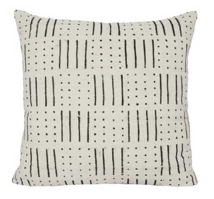 ABEDI ONE OF A KIND WHITE MUDCLOTH PILLOW - Lulu and Georgia