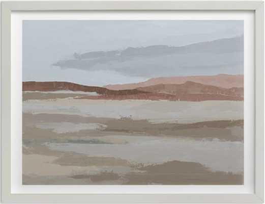 Blushing Expanse - 40 x 30, white wood frame - Minted
