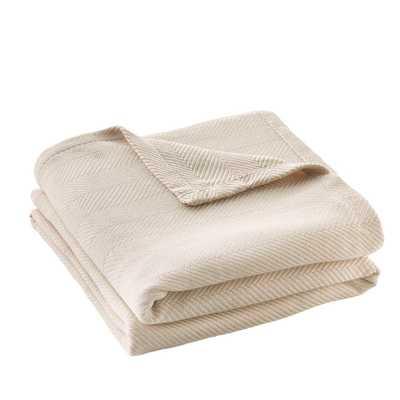 Cotton TENCEL™ Blend King Blanket in Ballet Beige - Home Depot