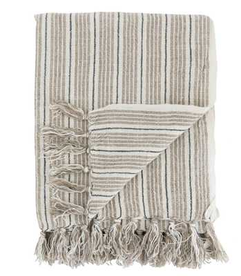 NEUTRAL STRIPE THROW - McGee & Co.