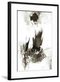 "Ink Lady - 24"" x 35"" -  Chelsea Black -  3.5"" Crisp - Bright White Mat- Acrylic: Clear - art.com"