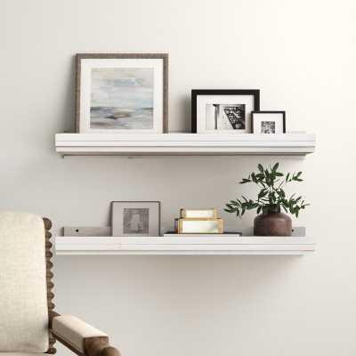 Fragoso 2 Piece Pine Solid Wood Floating Shelf (Set of 2) - Birch Lane