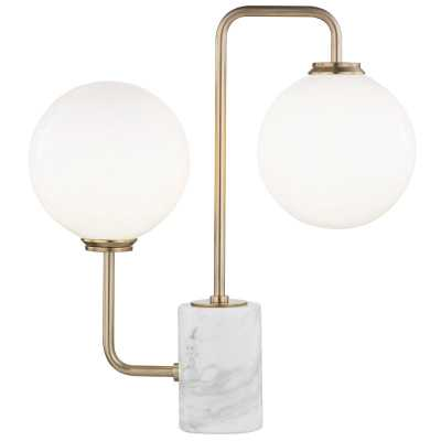 Mia 2 Light Table Lamp With A Marble Base by Mitzi - Burke Decor