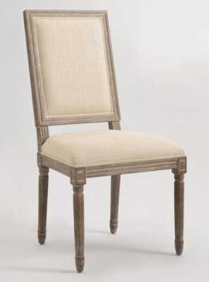 Natural Linen Square-Back Paige Dining Chairs, Set of 2 - Fabric by World Market - World Market/Cost Plus