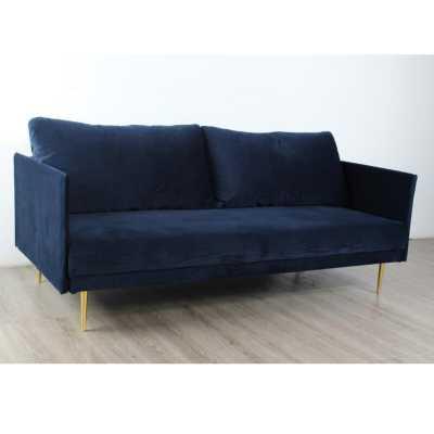 Navy Blue Velvet Sofa Sleeper - Wayfair