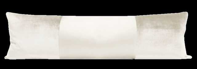 "The XL Lumbar :: MONOCHROMATIC Faux Silk Velvet // Alabaster - 14"" X 48"" - Little Design Company"