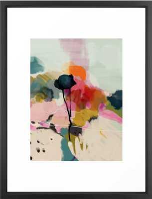 paysage abstract Framed Art Print - Vector Black Frame - 20 x 26 - Society6