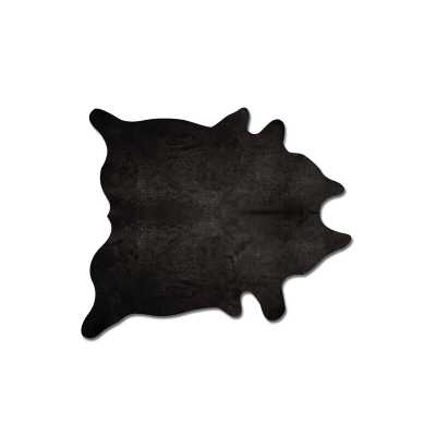 Plainsboro Handmade Black Cowhide Area Rug - Wayfair