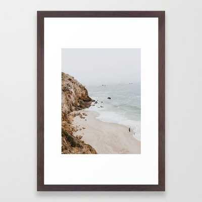 "malibu coast / california Framed Art Print 15 x 21"" Pecan Frame - Society6"