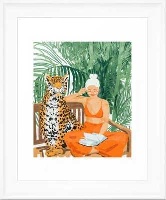 Jungle Vacay #painting #illustration Framed Art Print - Society6