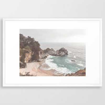 Big Sur Framed Art Print // 26x38 // vector white frame - Society6