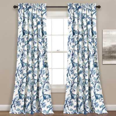 Panagia Nature/Floral Room Darkening Thermal Rod Pocket Curtain Panels (set of 2) - Wayfair