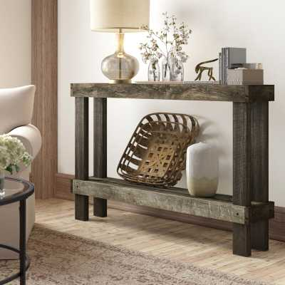 37'' H x 58.50'' W x 10'' D Dark Walnut Dunlap Solid Wood Console Table - Wayfair
