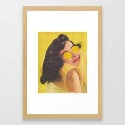 Squeeze the Day Framed Art Print - Society6