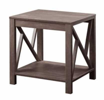 Weck Wood End Table Hazelnut - HOMES: Inside + Out - Target