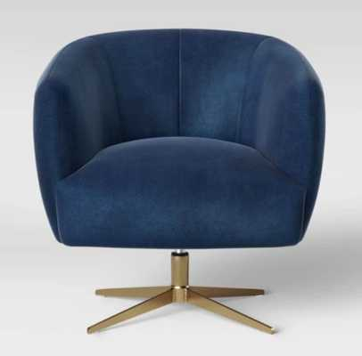 Morpho Swivel Velvet Arm Chair Navy Blue - Opalhouse - Target