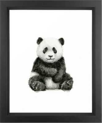 "Panda Baby Watercolor Framed Art Print - Vector Black - 10"" x 12"" - Society6"