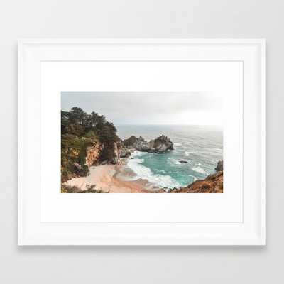 Big Sur Framed in Scoop White Art Print 12 x 12 - Society6