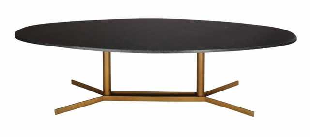 Alina Black Marble Coffee Table - Maren Home