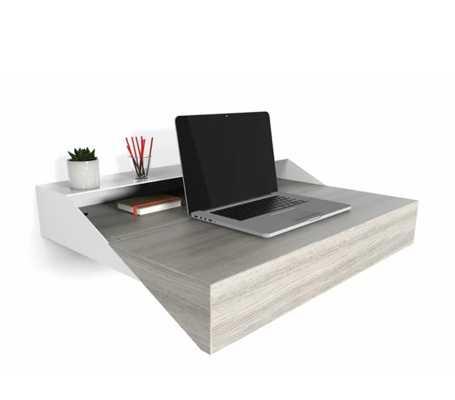 Hideaway Wall Desk and Display Shelf - Wayfair