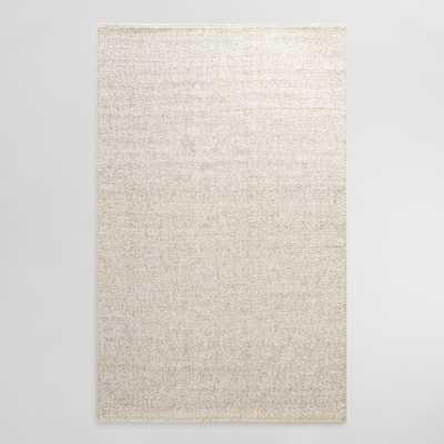 Ivory Tonal Sweater Wool Emilie Area Rug: White -8'x10' by World Market - World Market/Cost Plus