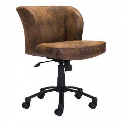 Shaw Office Chair Brown - Zuri Studios