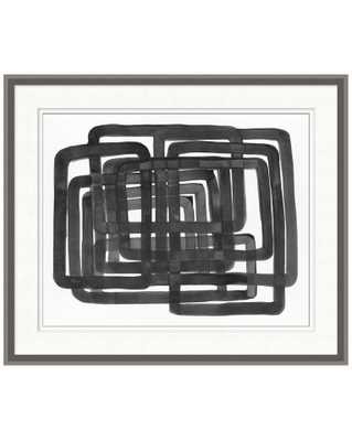 LINED ABSTRACT 2 Framed Art - McGee & Co.
