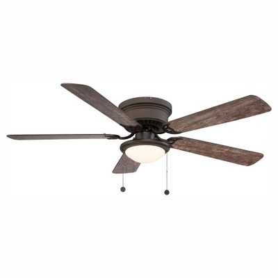 Hugger 52 in. LED Espresso Bronze Ceiling Fan - Home Depot