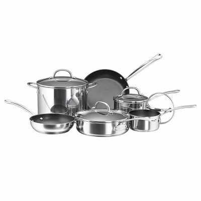 Farberware Stainless Steel 10Pc Cookware Set - Target