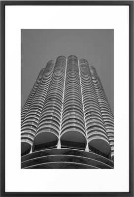 Marina City Tower Photo, Chicago, Architecture Framed Art Print - Society6