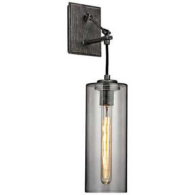 """Union Square 20 3/4"""" High Graphite Wall Sconce - Lamps Plus"""
