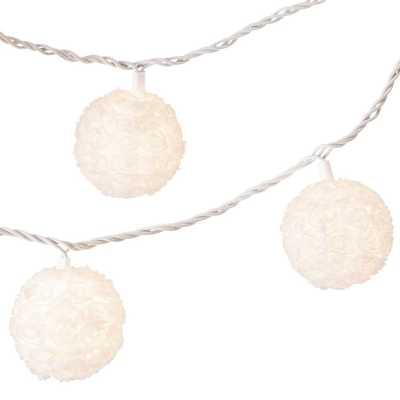 11' Rosette Globe String Lights White - Room Essentials - Target
