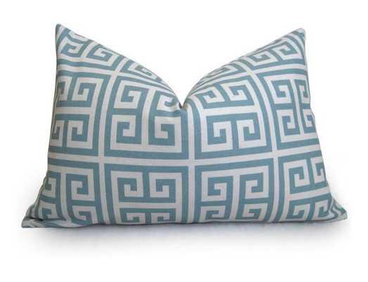 Greek Key Pillow Cover - Light Blue - Willa Skye