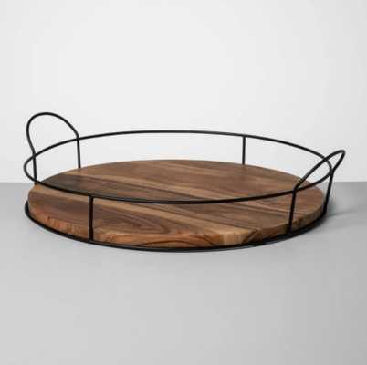 Wood and Metal Tray - Hearth & Hand™ with Magnolia - Target