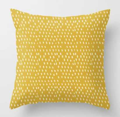 Yellow Modernist Throw Pillow - indoor - 20 x 20 - Society6