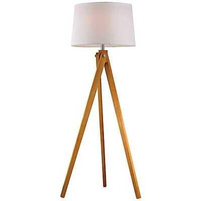 Dimond Natural Wood Tripod Floor Lamp white - Lamps Plus