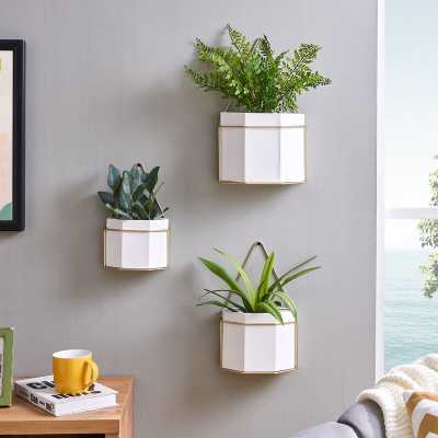 Ramsell 3-Piece Metal Wall Planter Set - Wayfair