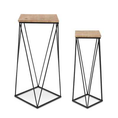 Lofland Metal Accent 2 Piece Nesting Tables - Wayfair
