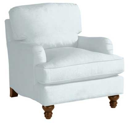Eton Club Chair - Queens Velvet Sky - Ballard Designs