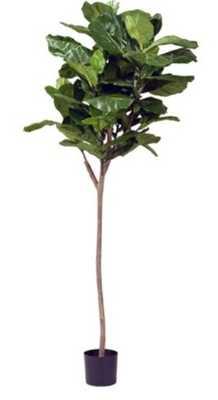 "AB Home Fiddle Leaf Artificial Fig Tree 60""H - Hayneedle"