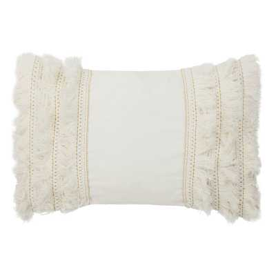White Hooda Grema Lumbar Pillow - Wayfair