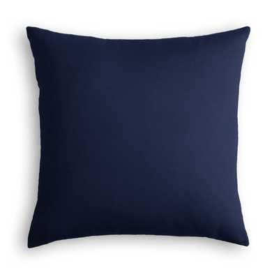 "Classic Velvet Pillow, Navy, 18"" x 18"" - Havenly Essentials"